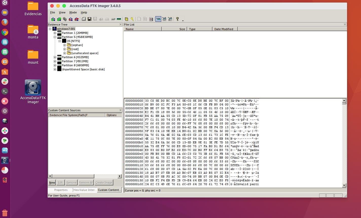 FTK Imager Lite en Ubuntu