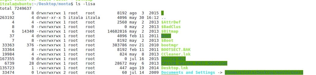 ficheros en terminal